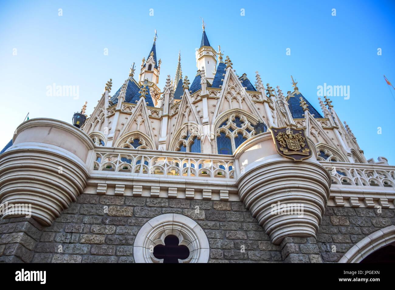Tokyo Disneyland Cinderella Castle - Stock Image