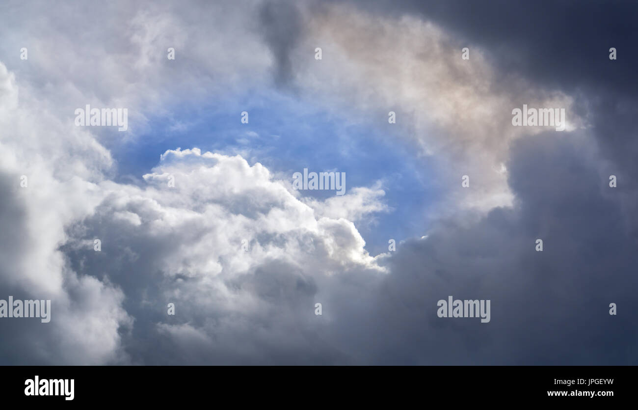 Big clound with blue sky. - Stock Image