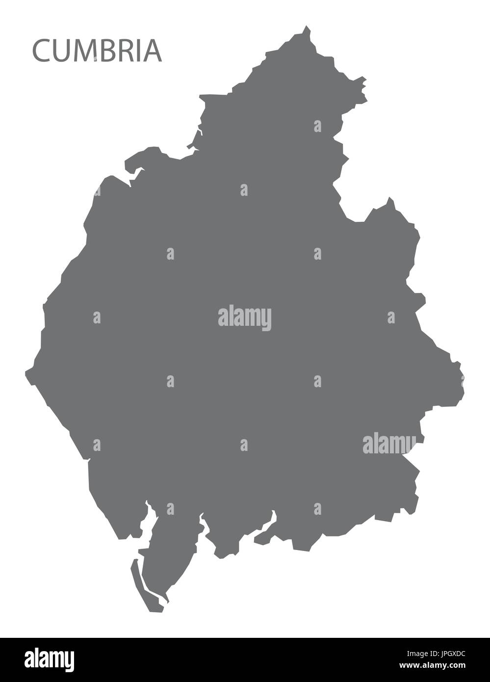 cumbria uk map