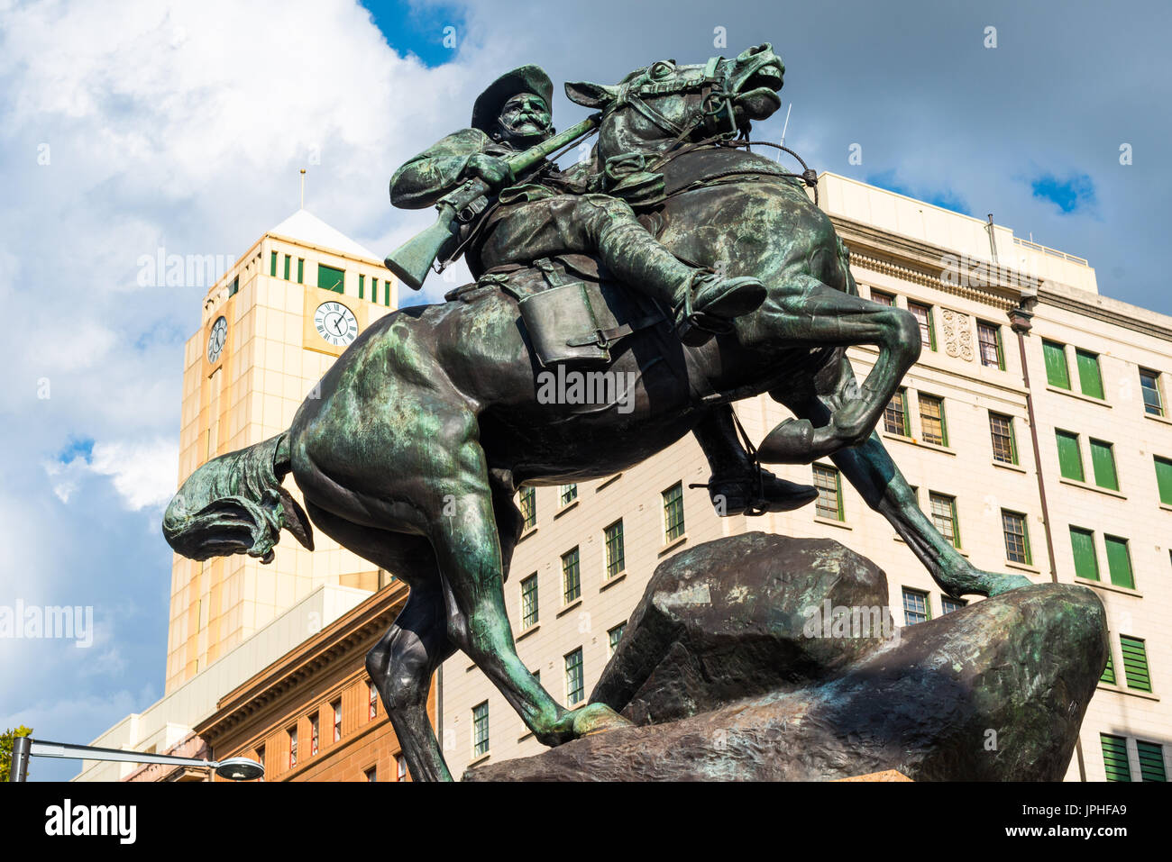 South African War Memorial for the Boer War, Adelaide, South Australia. - Stock Image