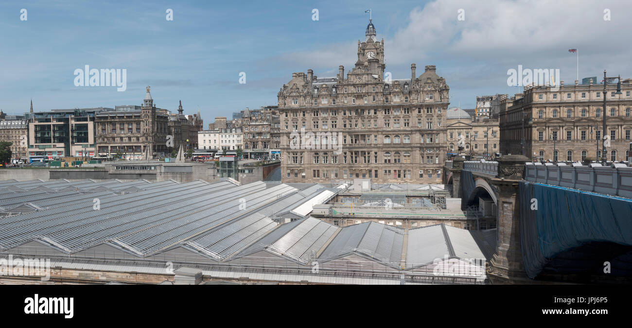 The Balmoral Hotel Seen From Old Town Edinburgh Across The Roof Of