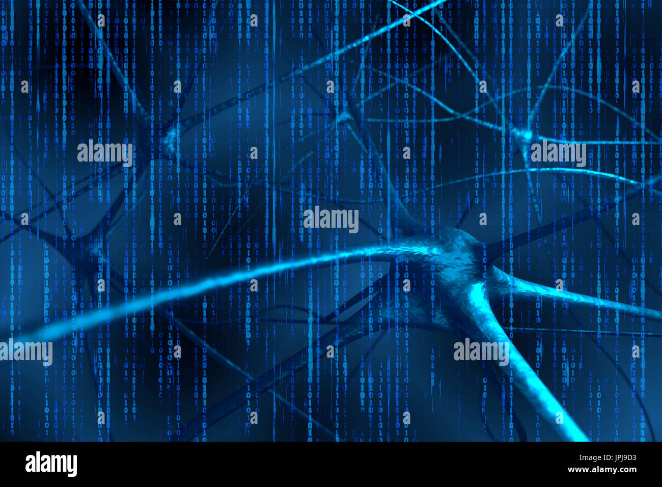 Artificial Intelligence And Deep Learning Technology Concept Blue Or Photo Of Circuit Board Skinned Human Close Up Binary Code Coded Background 3d Rendering