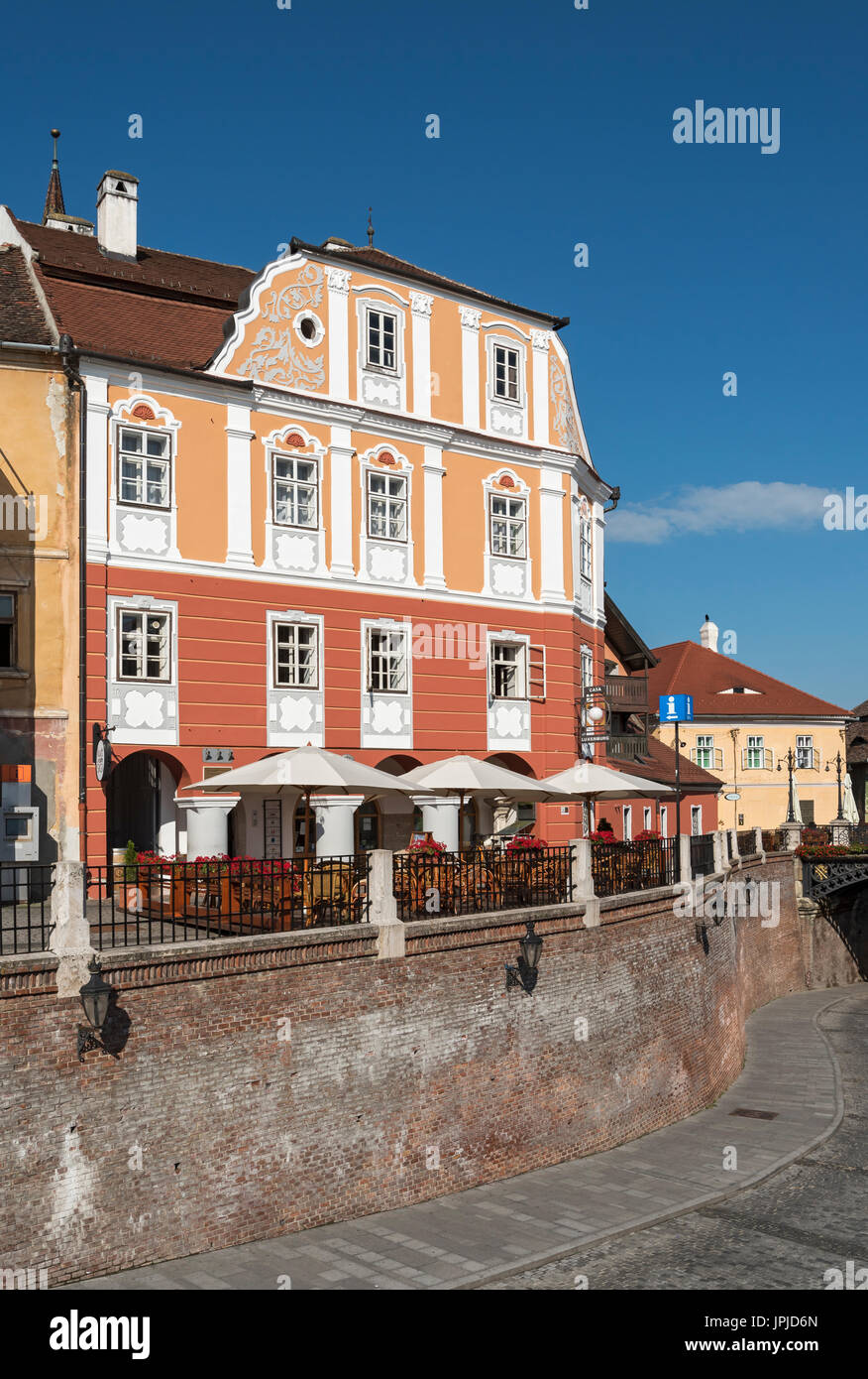 Casa Luxemburg House, Sibiu, Romania - Stock Image