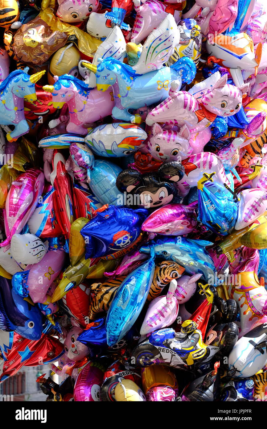 Colourful balloons for kids - Stock Image