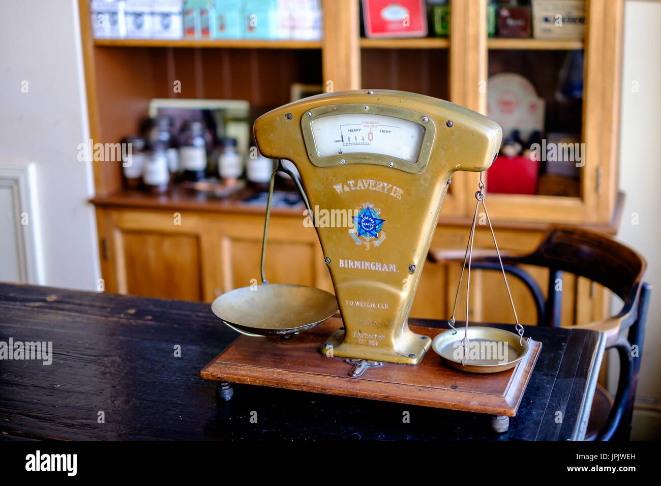 Antique Weighing Scale at Black Country Living Museum Cigeratte  - Stock Image