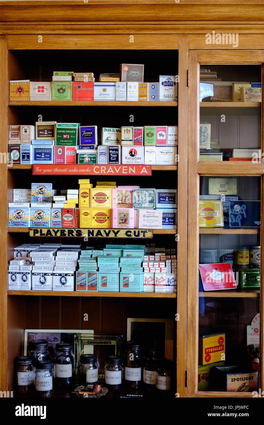 Black Country Living Museum Cigeratte Shop - Stock Image