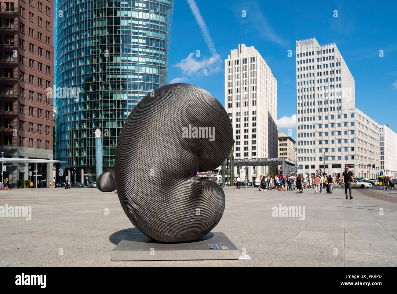 Modern art installation sculpture by Kang Muxiang at Potsdamer Platz in Berlin, Germany - Stock Image