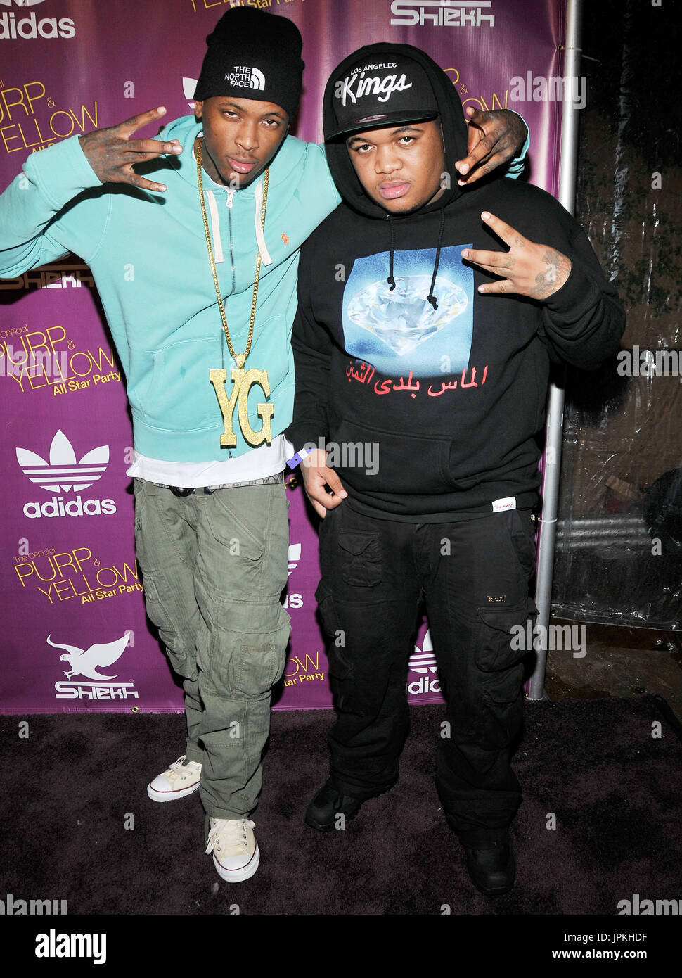 Def Jam Artist Yg Dj Mustard At The Official Purp Yellow Nba All Star Party Held At J Lounge In Los Angeles Ca The Event Took Place On Friday February