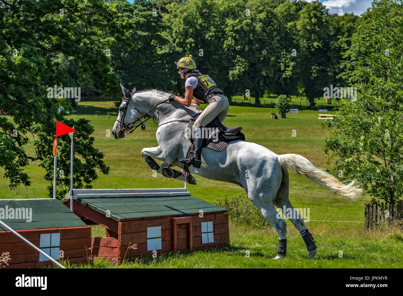 Aske equestrian horse trials at Richmond, Yorkshire. - Stock Image