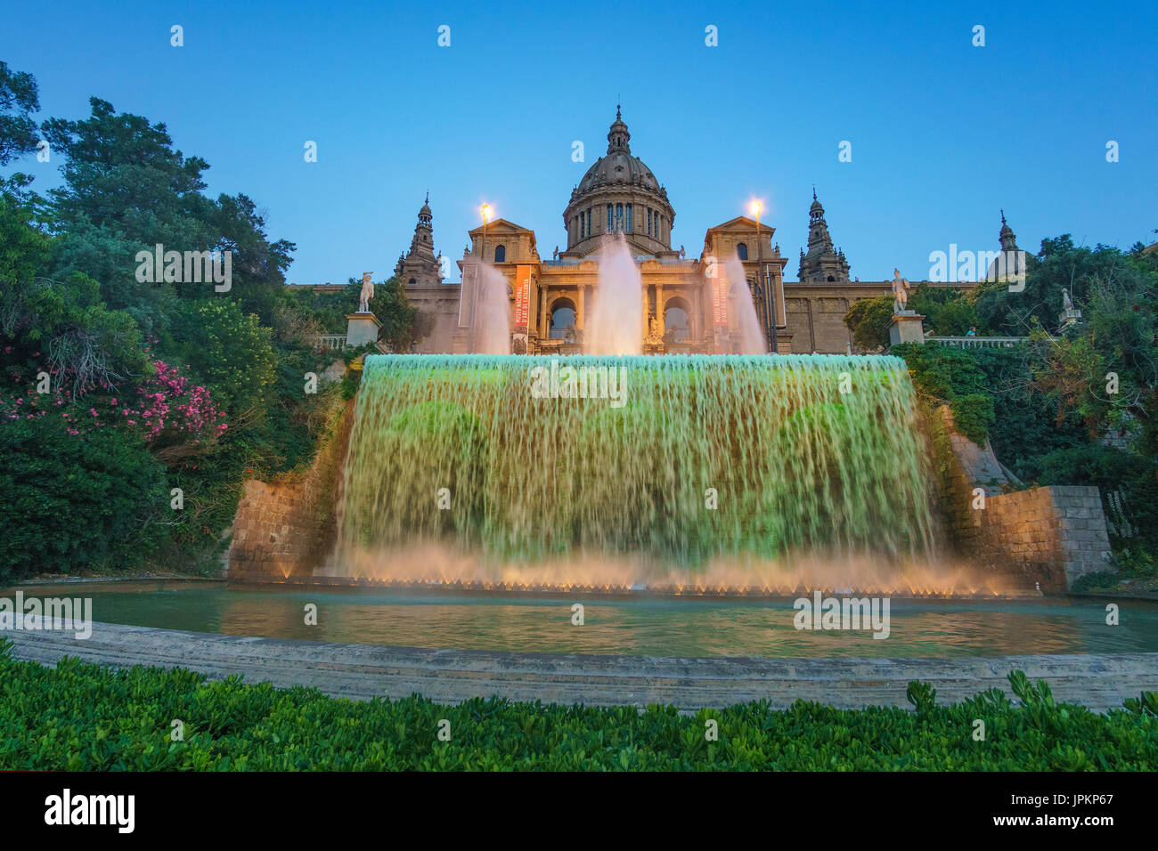 Museu Nacional d'Art de Catalunya is the national museum of Catalan visual art located in Barcelona, Catalonia, Stock Photo