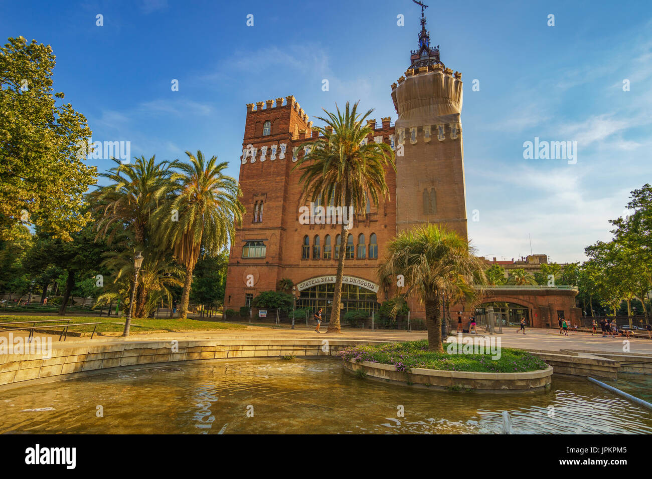 The Castle of the Three Dragons Castell dels Tres Dragons. The exhibition was used as a museum of history, archeology, biology and natural sciences. - Stock Image