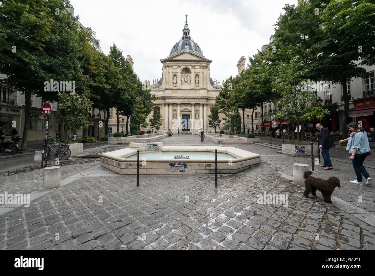 The Sorbonne university in Paris - Stock Image