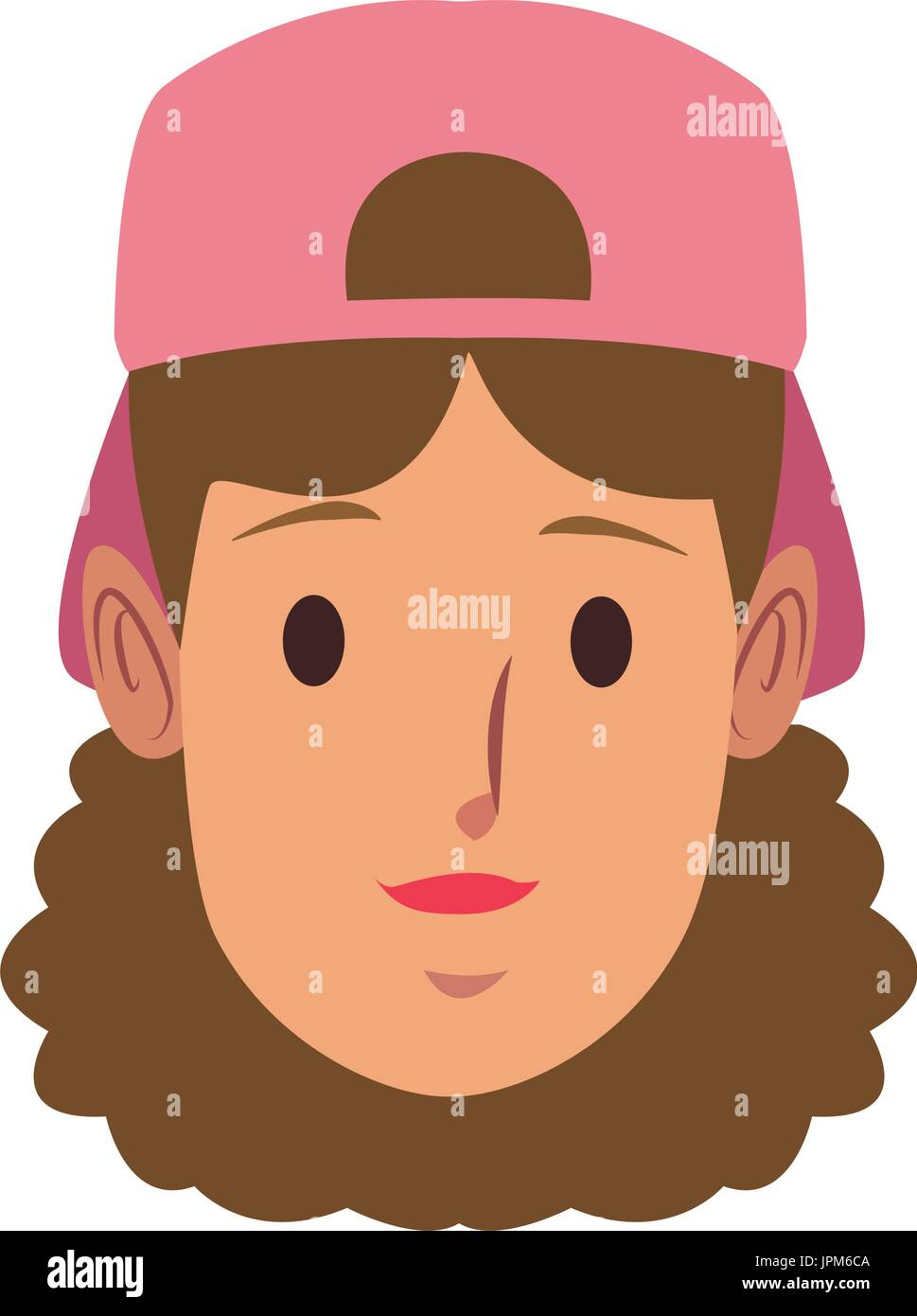 woman face employee worker person character - Stock Vector