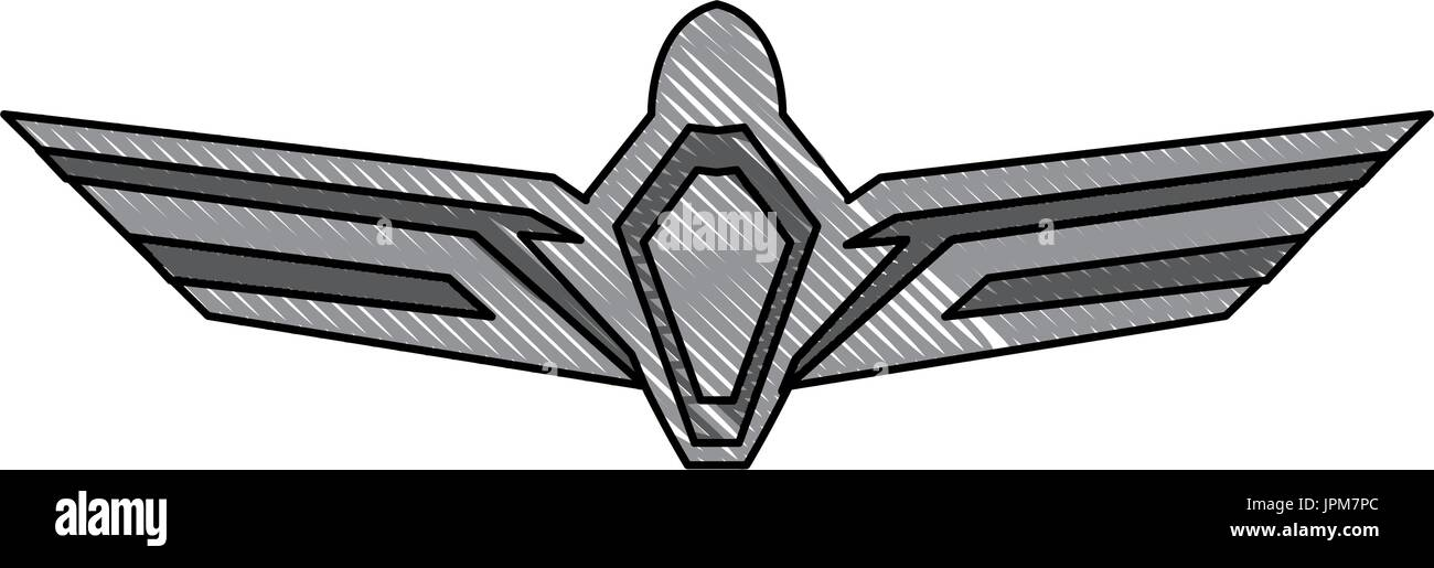aviation emblem badge military and civil aviation icon Stock Vector