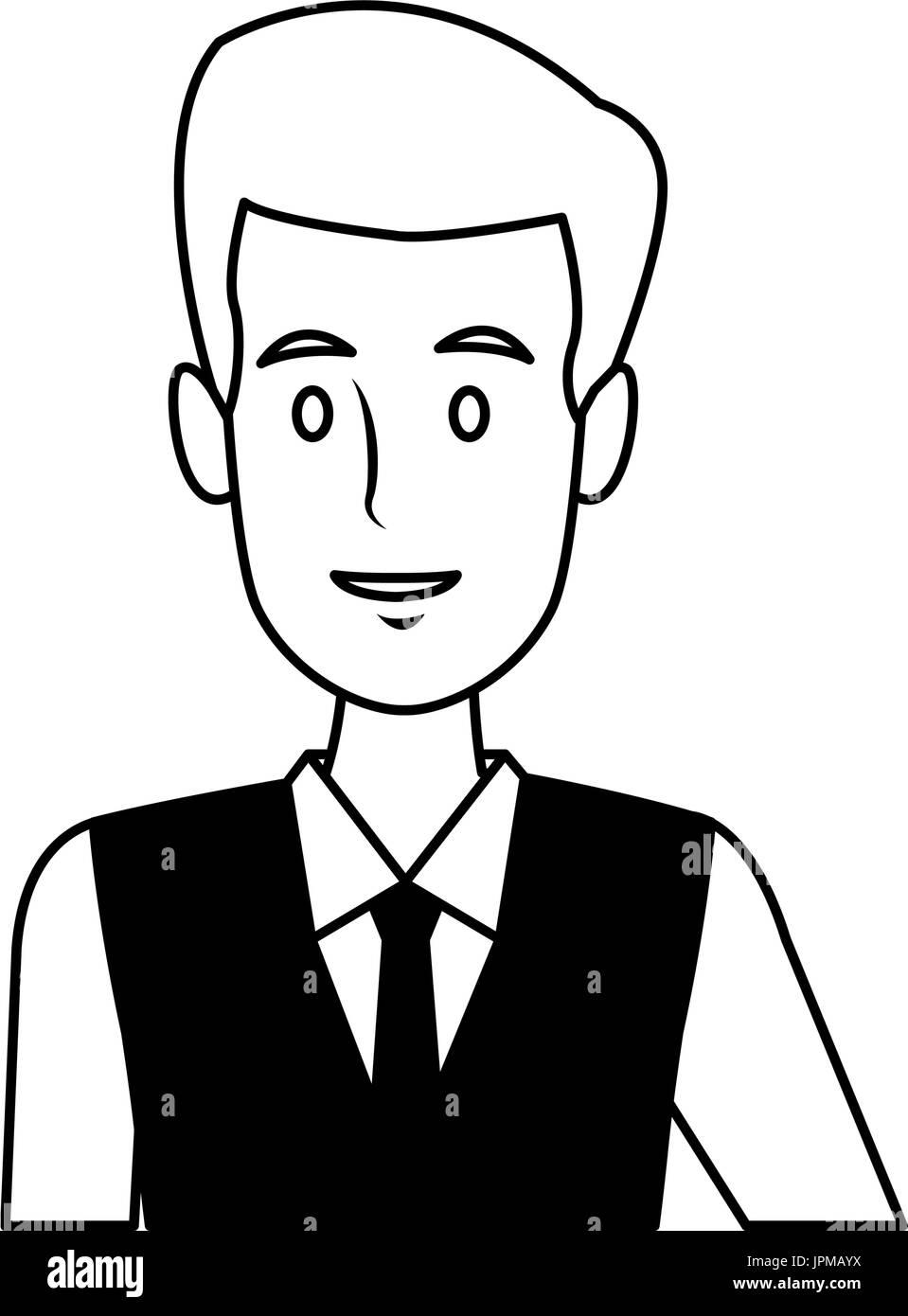 business man suit portrait manager employee or entrepreneur person - Stock Image