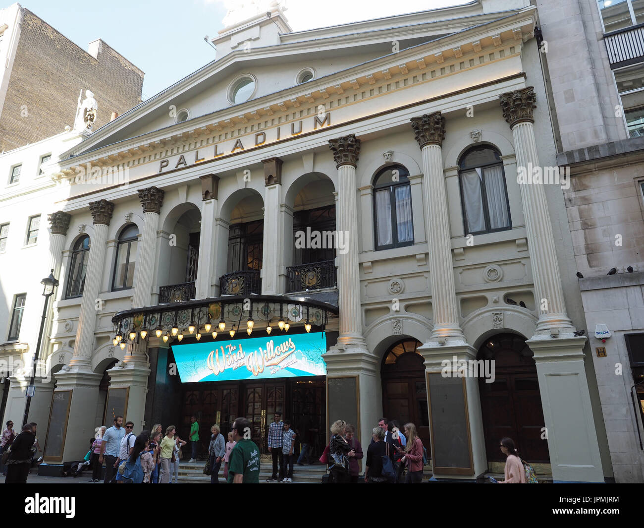 Front view of The London Palladium theatre in Argyll Street London - Stock Image