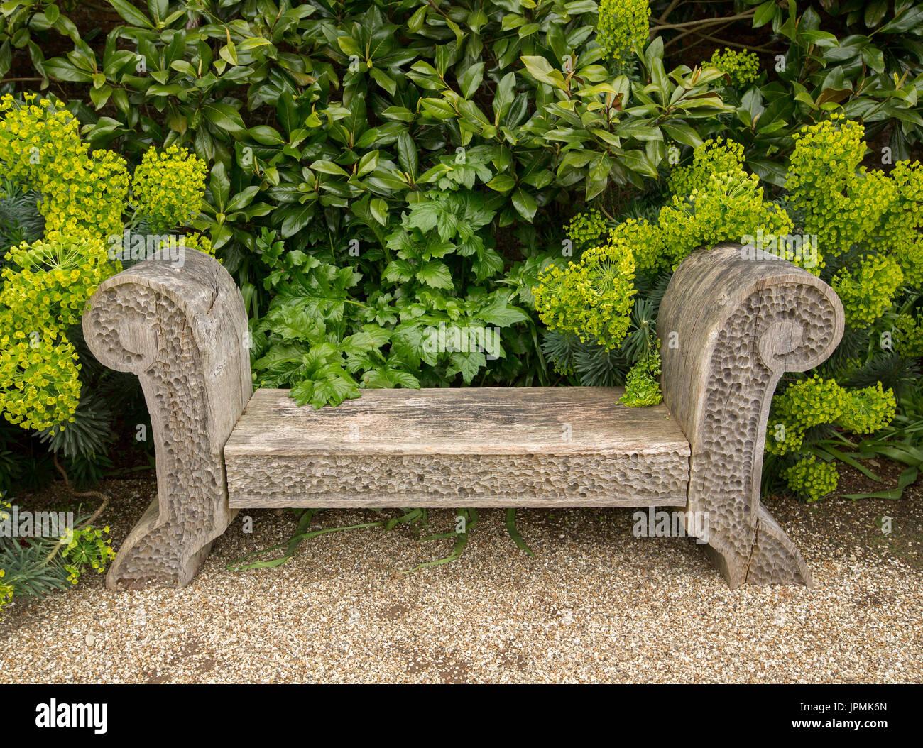 Admirable Unusual Wooden Bench Stock Photos Unusual Wooden Bench Creativecarmelina Interior Chair Design Creativecarmelinacom