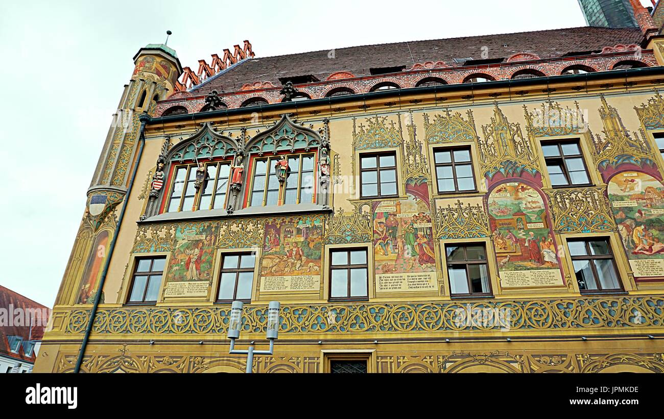 Ulmer Rathaus or City Hall of Ulm, Germany - Stock Image