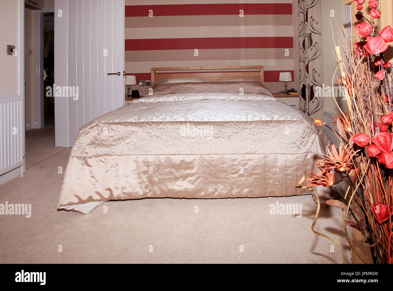 fitted bedroom, modern interior design, home furnishing - Stock Image