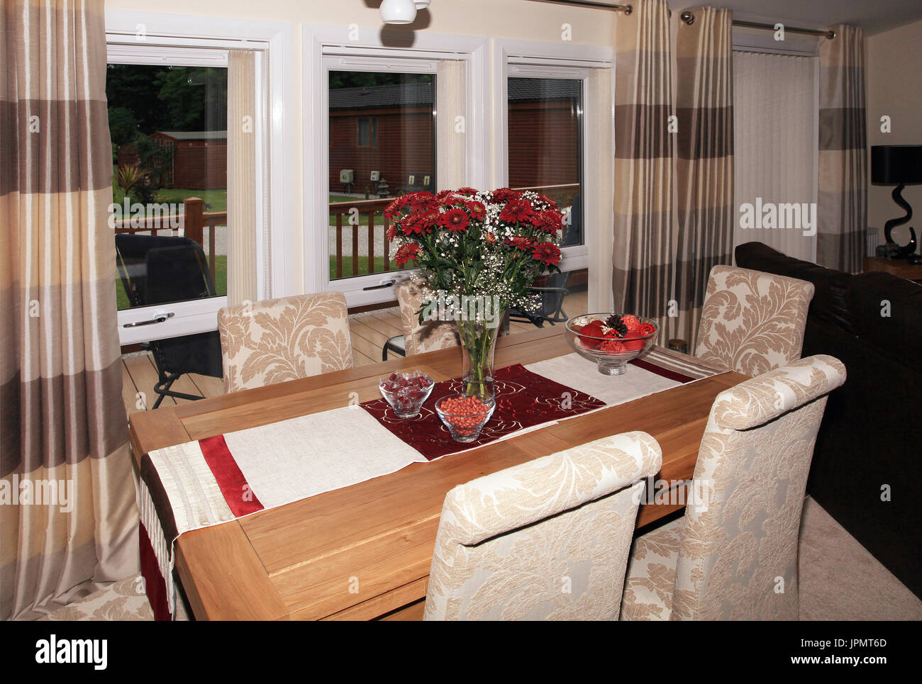 dining room, open plan living Stock Photo