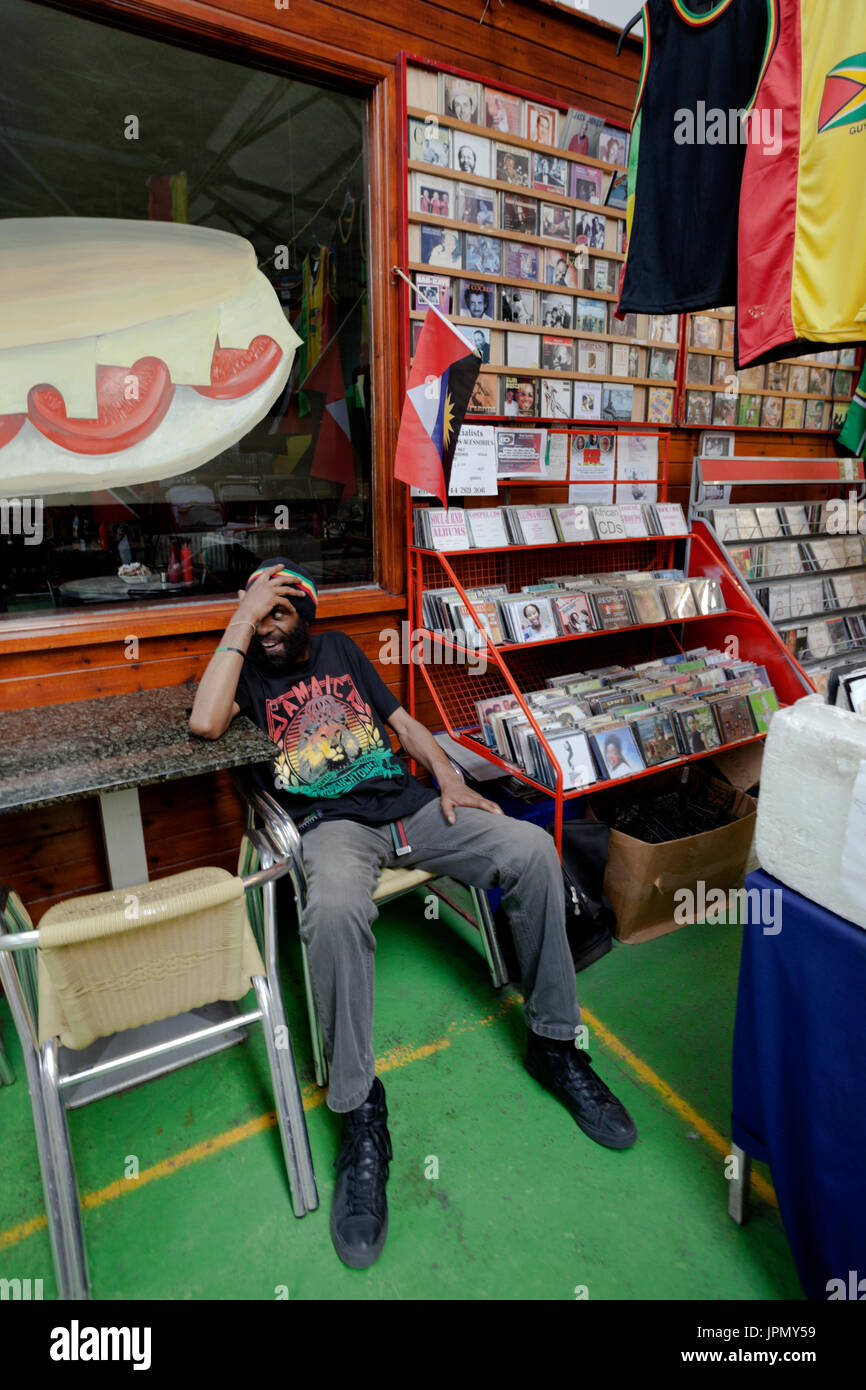 Record Store in Tooting Market - Stock Image