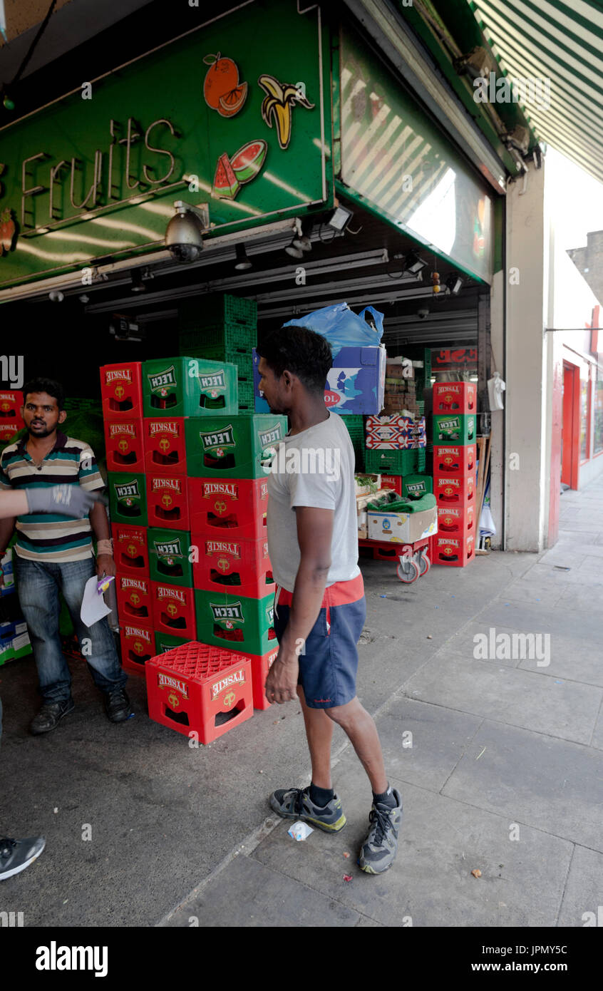 Fruit and Vegetable Stall in Tooting Market - Stock Image