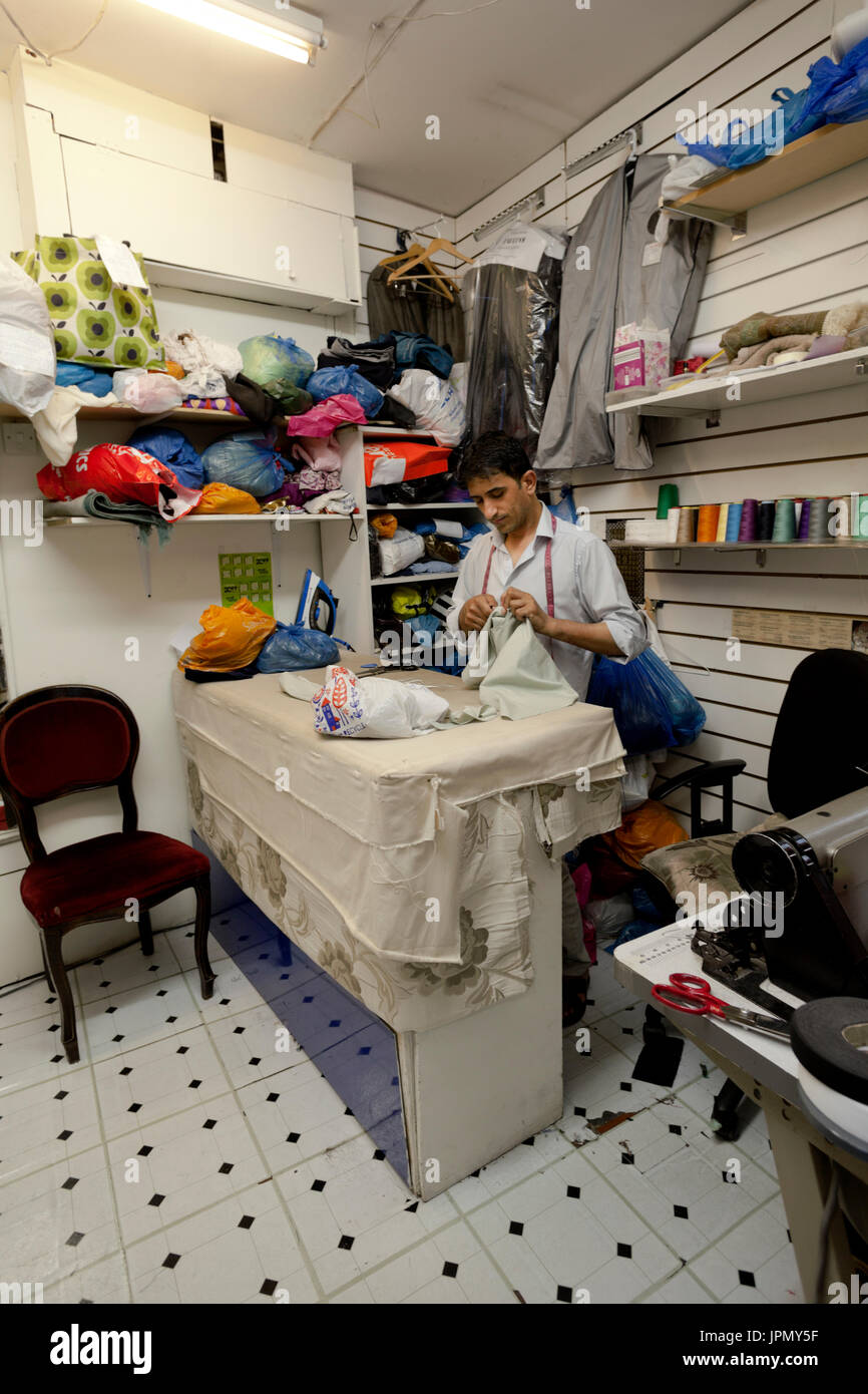 Tailor in Tooting Market - Stock Image