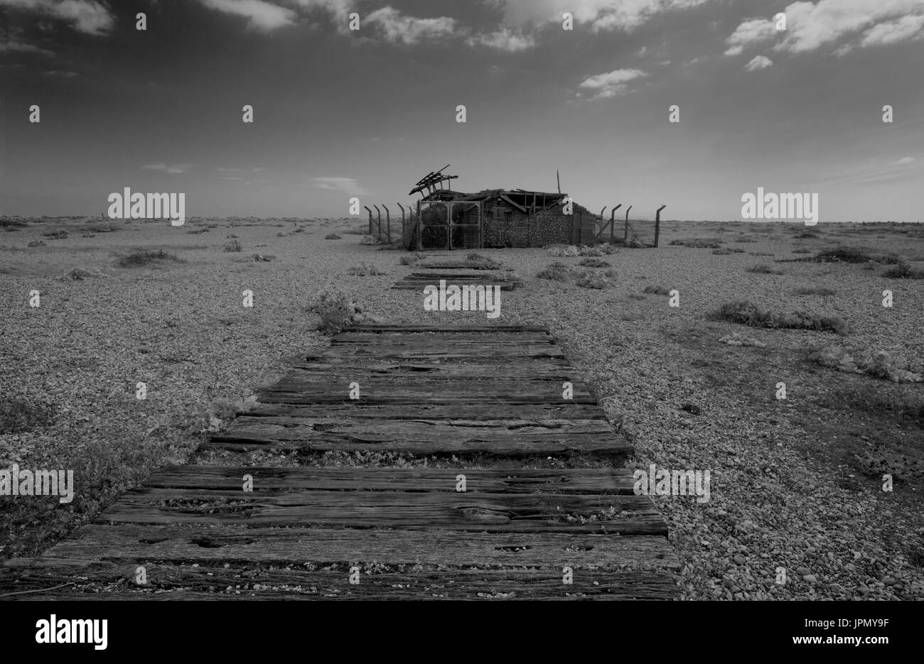 The Desolation at Dungeness - Stock Image