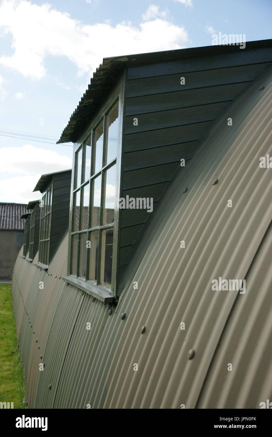 Nissen hut, prefabricated steel structure - Stock Image