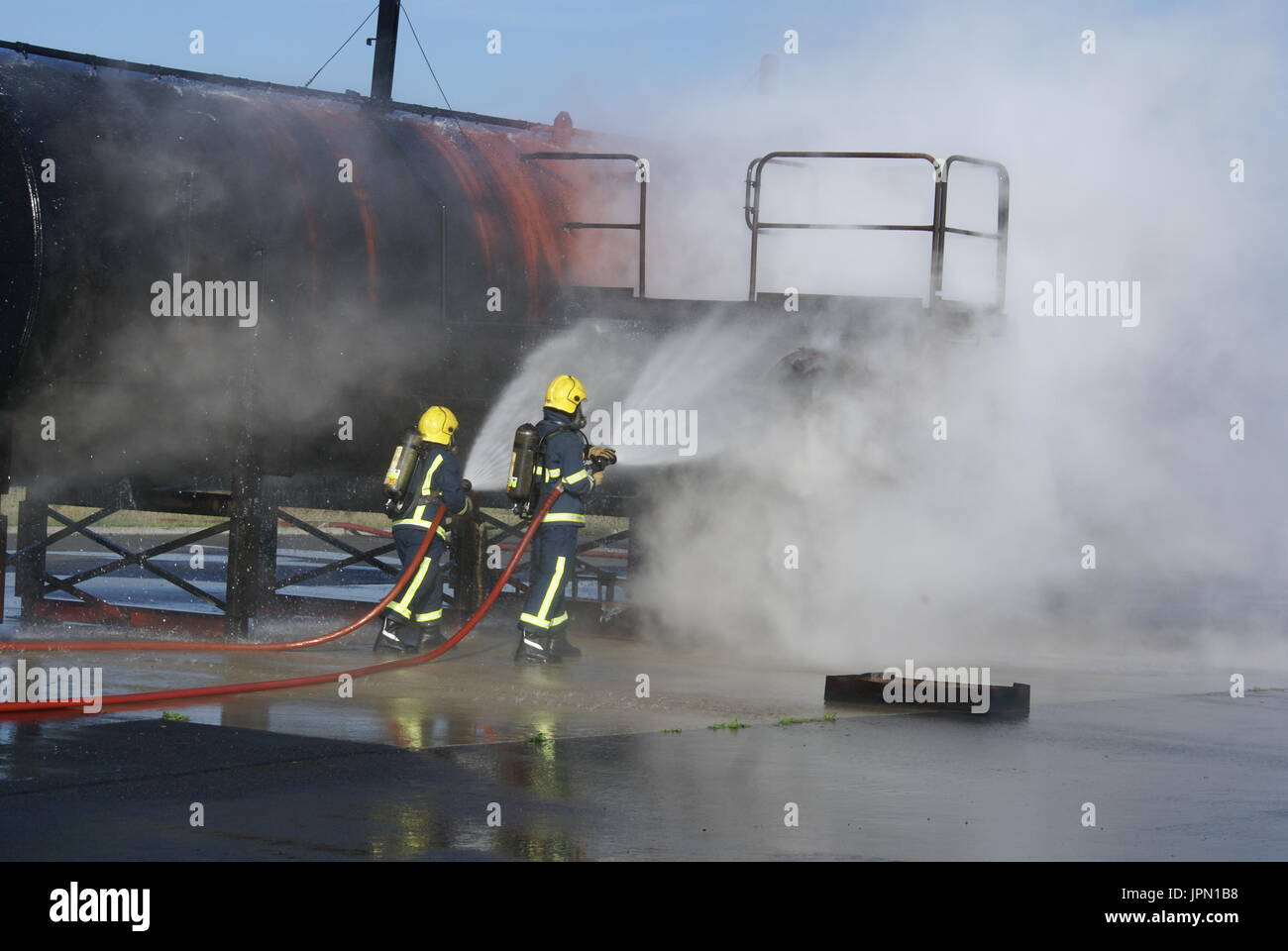 fire-fighter, fire and rescue service - Stock Image