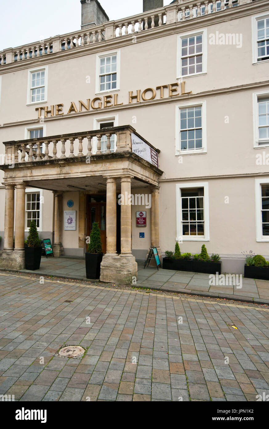 The Angel Hotel The Market Place Chippenham Wiltshire Wilts England UK A Best Western Hotel - Stock Image
