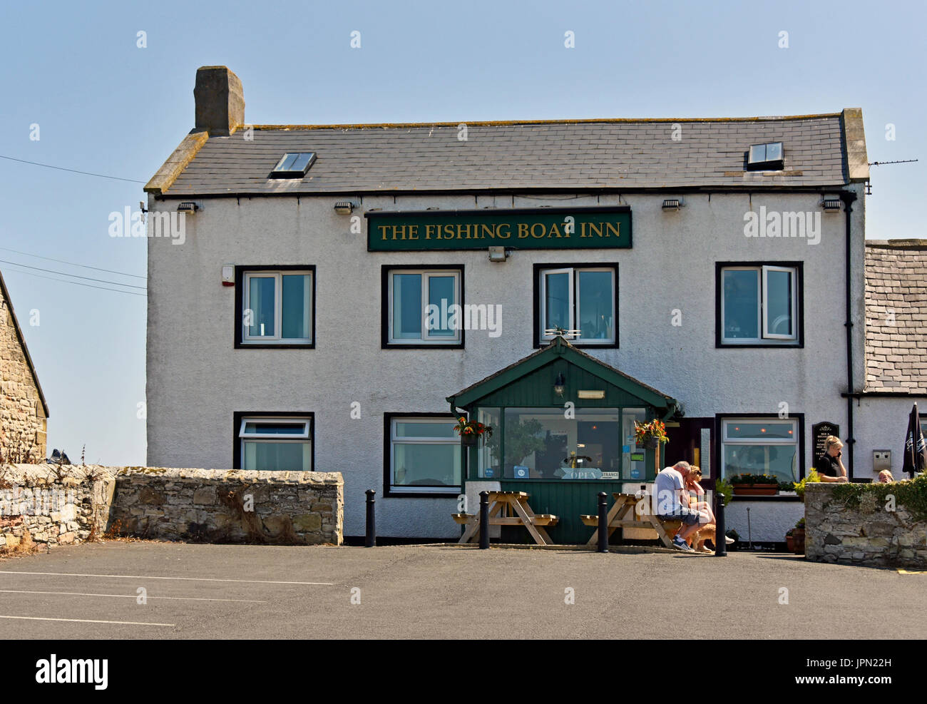 The Fishing Boat Inn. Boulmer, Northumberland, United Kingdom, Europe. - Stock Image