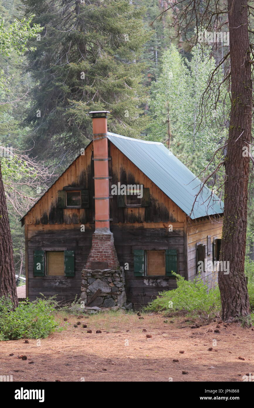 tree cabins cabin with huge sequoia in park national california snow covered redwood landscape