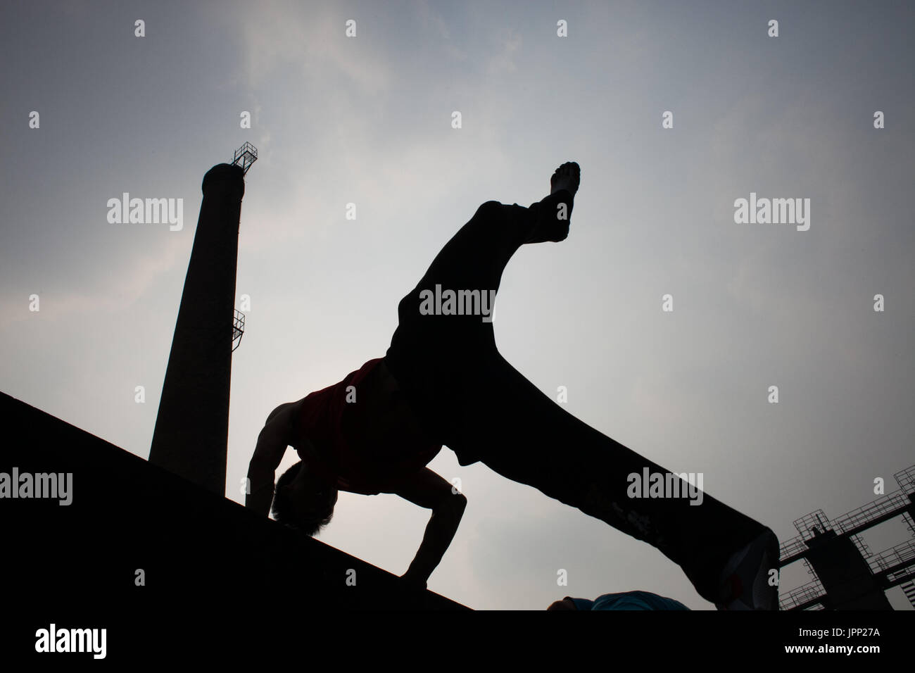 Parkour - Stock Image