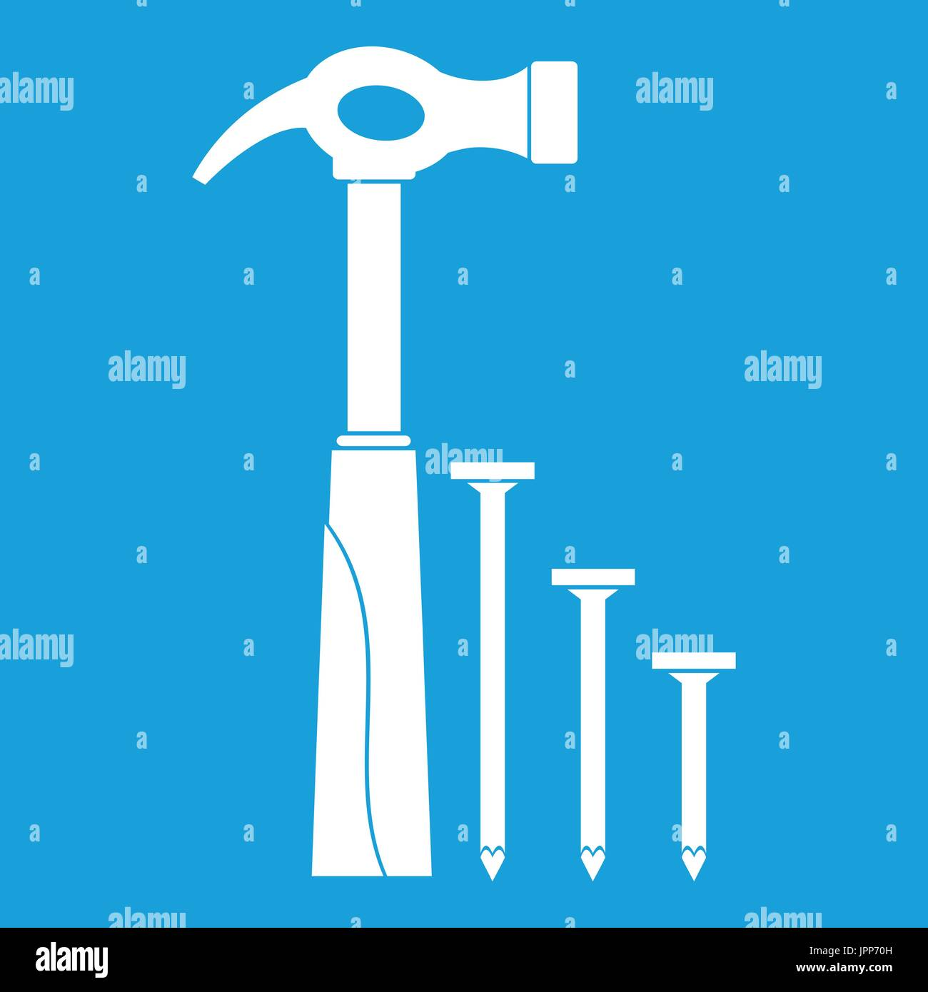 Hammer Nail Wood Stock Vector Images - Alamy
