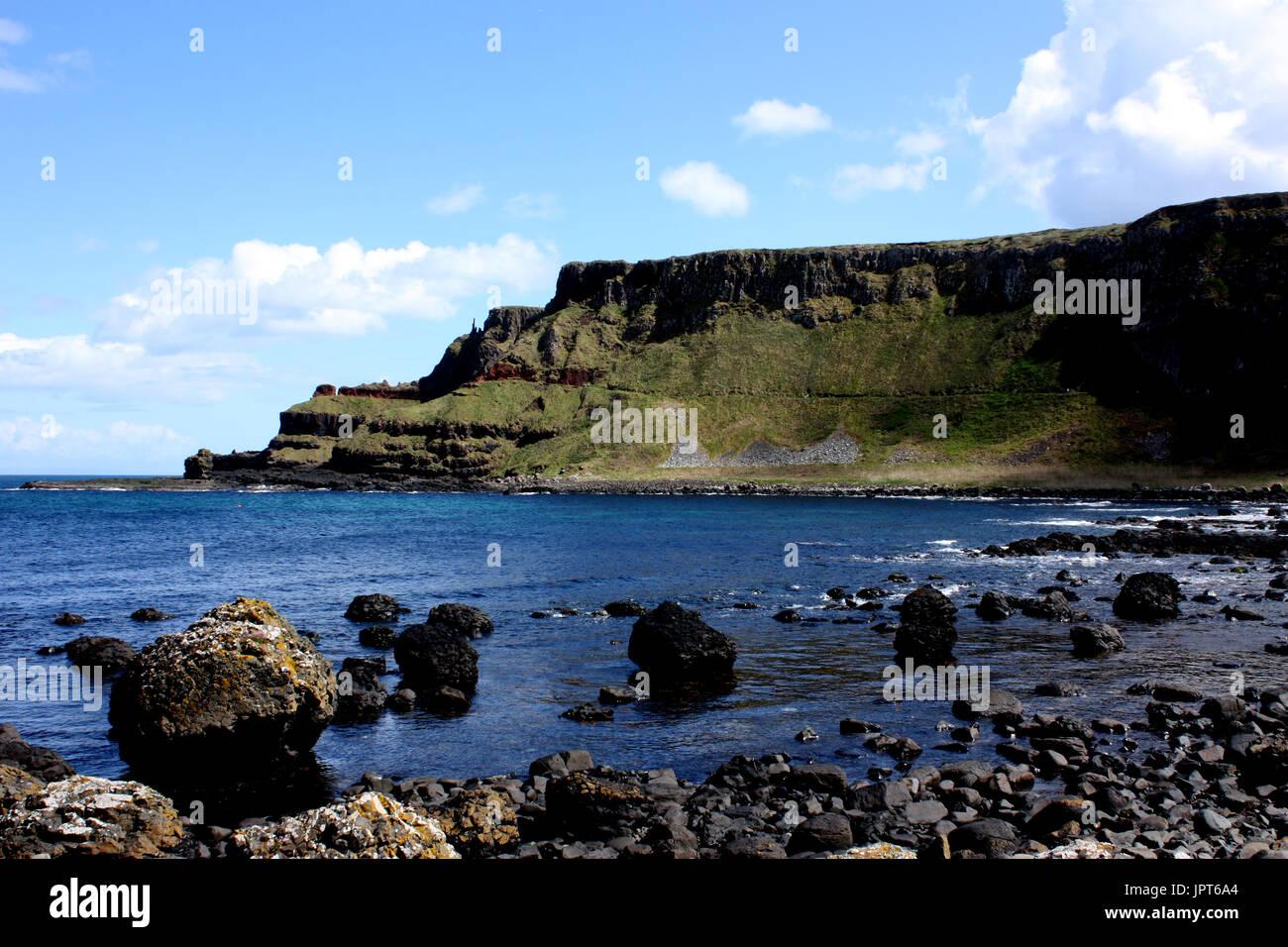 The Antrim Coast neat the Giant's Causeway - Stock Image