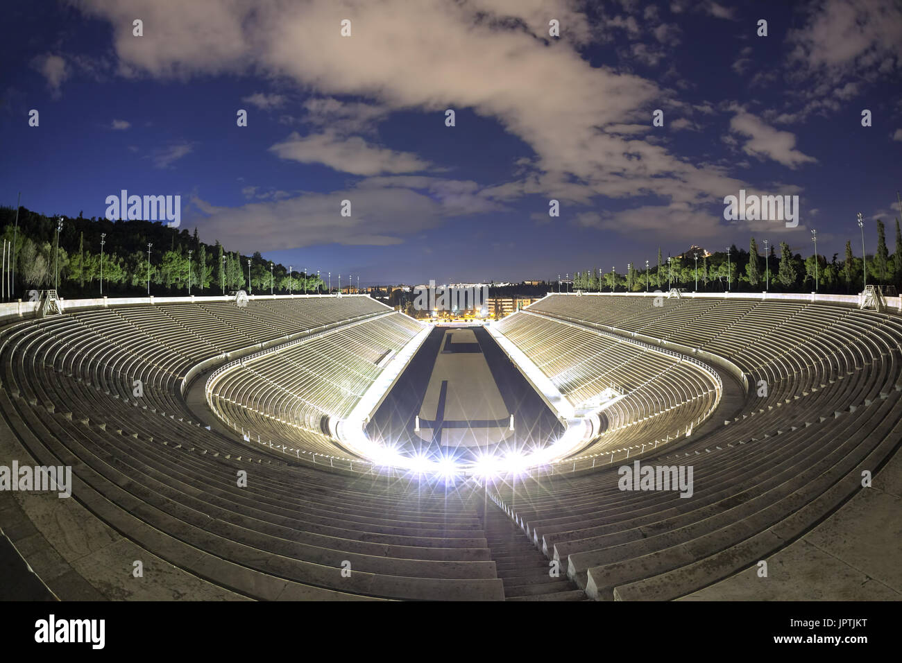 Panathenaic stadium  in Athens, Greece (hosted the first modern Olympic Games in 1896 Stock Photo