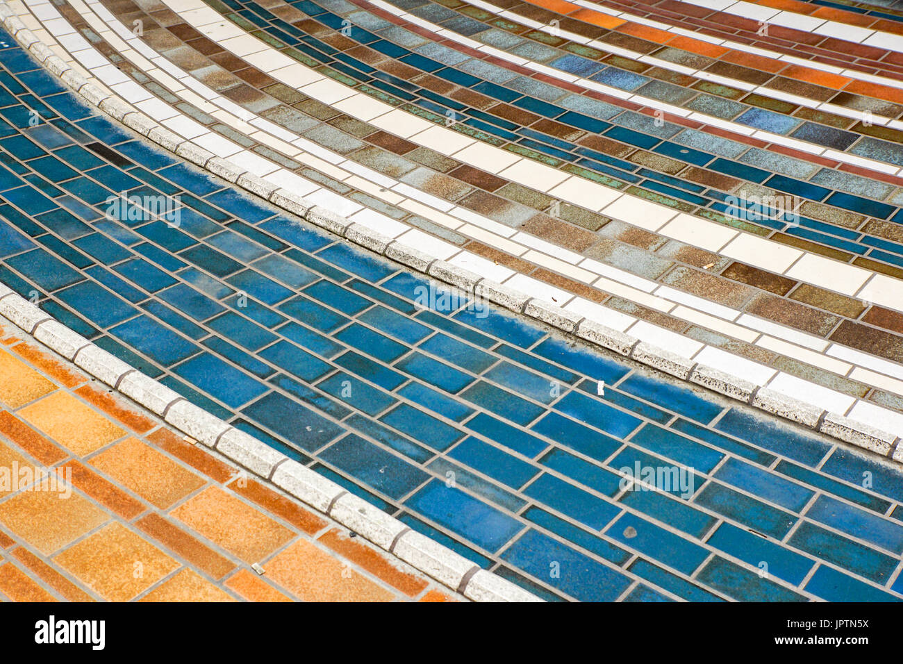 Colored tiles ceramic pavement .Modern glass mosaic background Stock ...