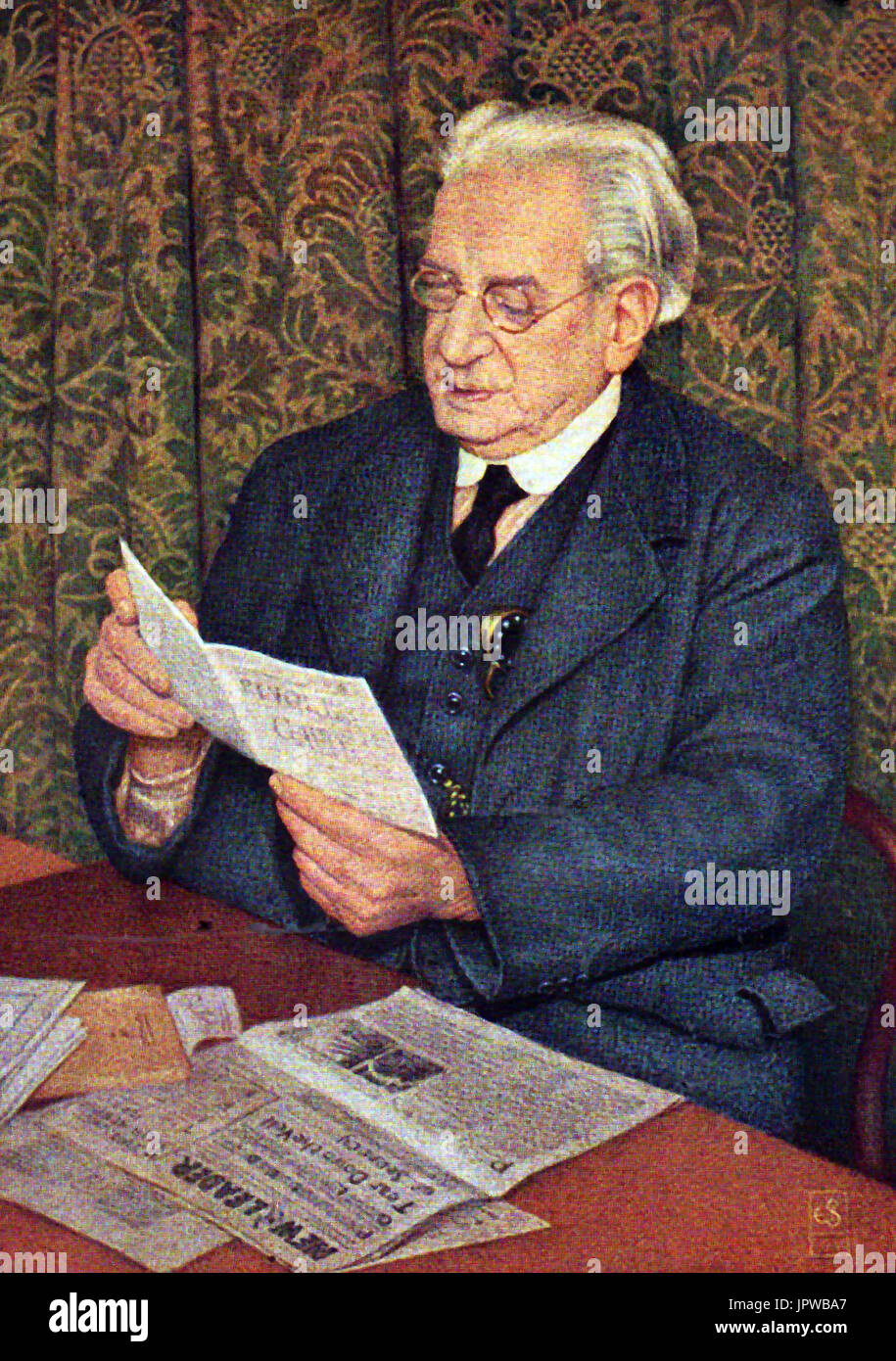 A portrait of Fred W Jowett MP of Bradford - Stock Image
