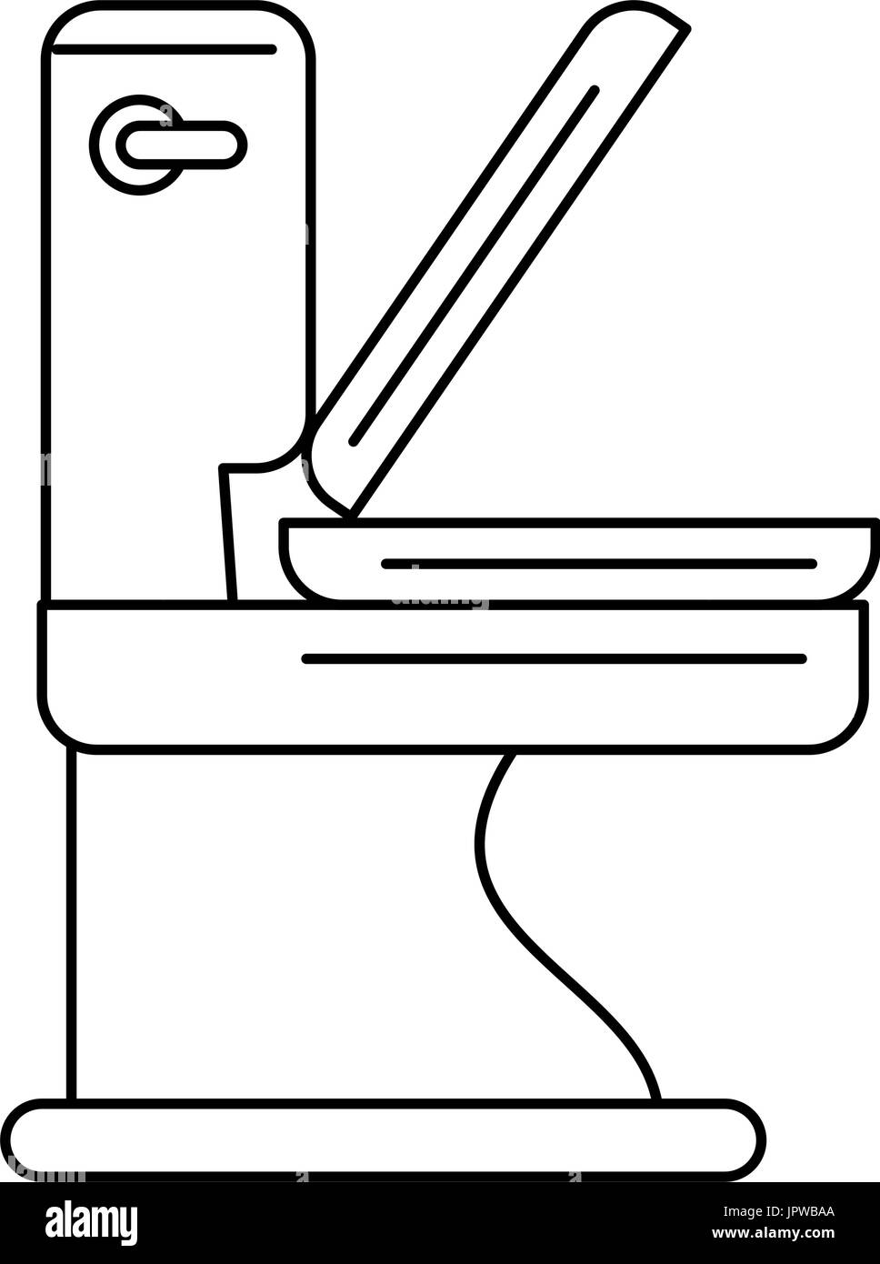 toilet bathware item icon image Stock Vector Art & Illustration ...