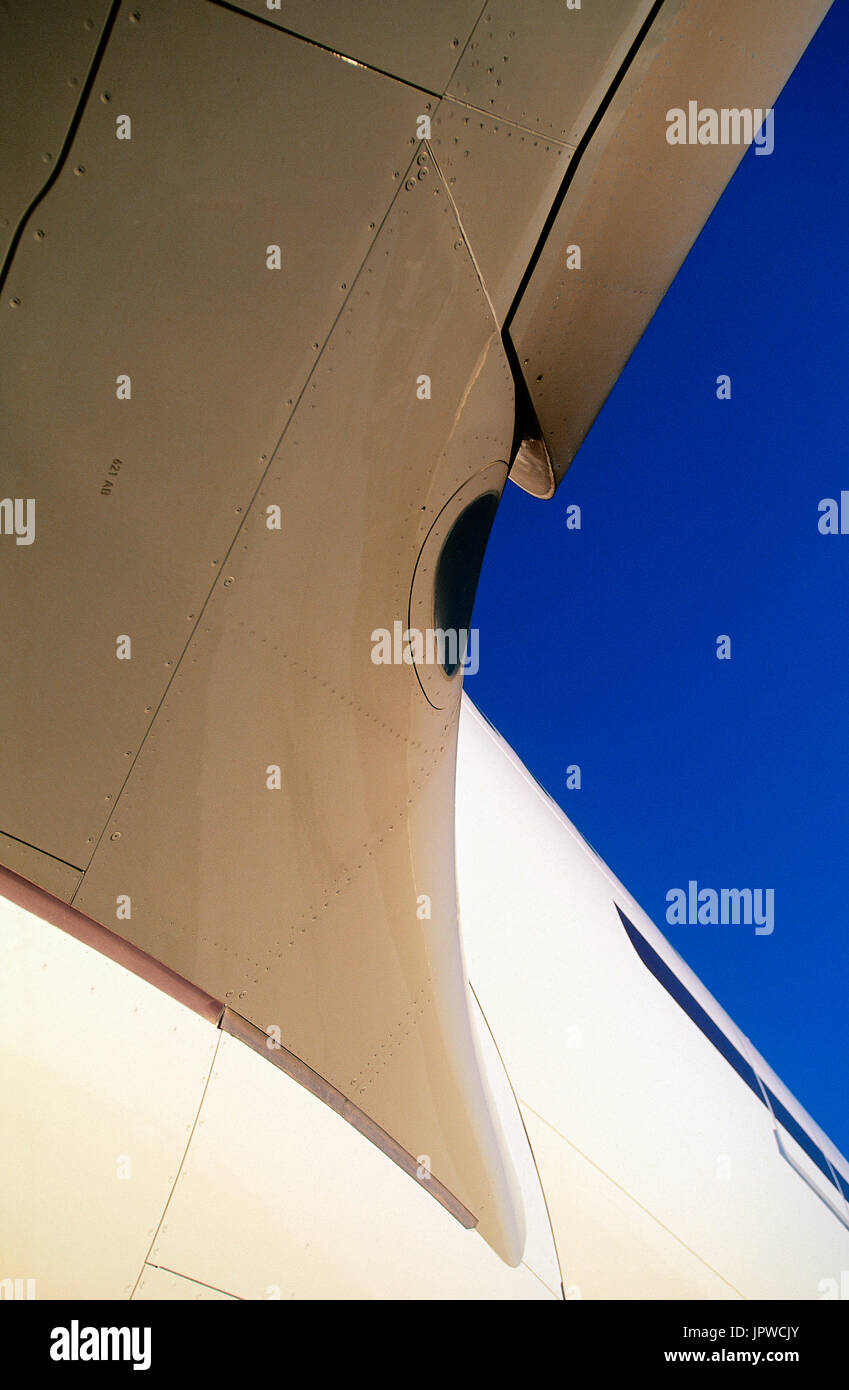 Gulf Air Airbus A330-200 wing and fuselage filet - Stock Image