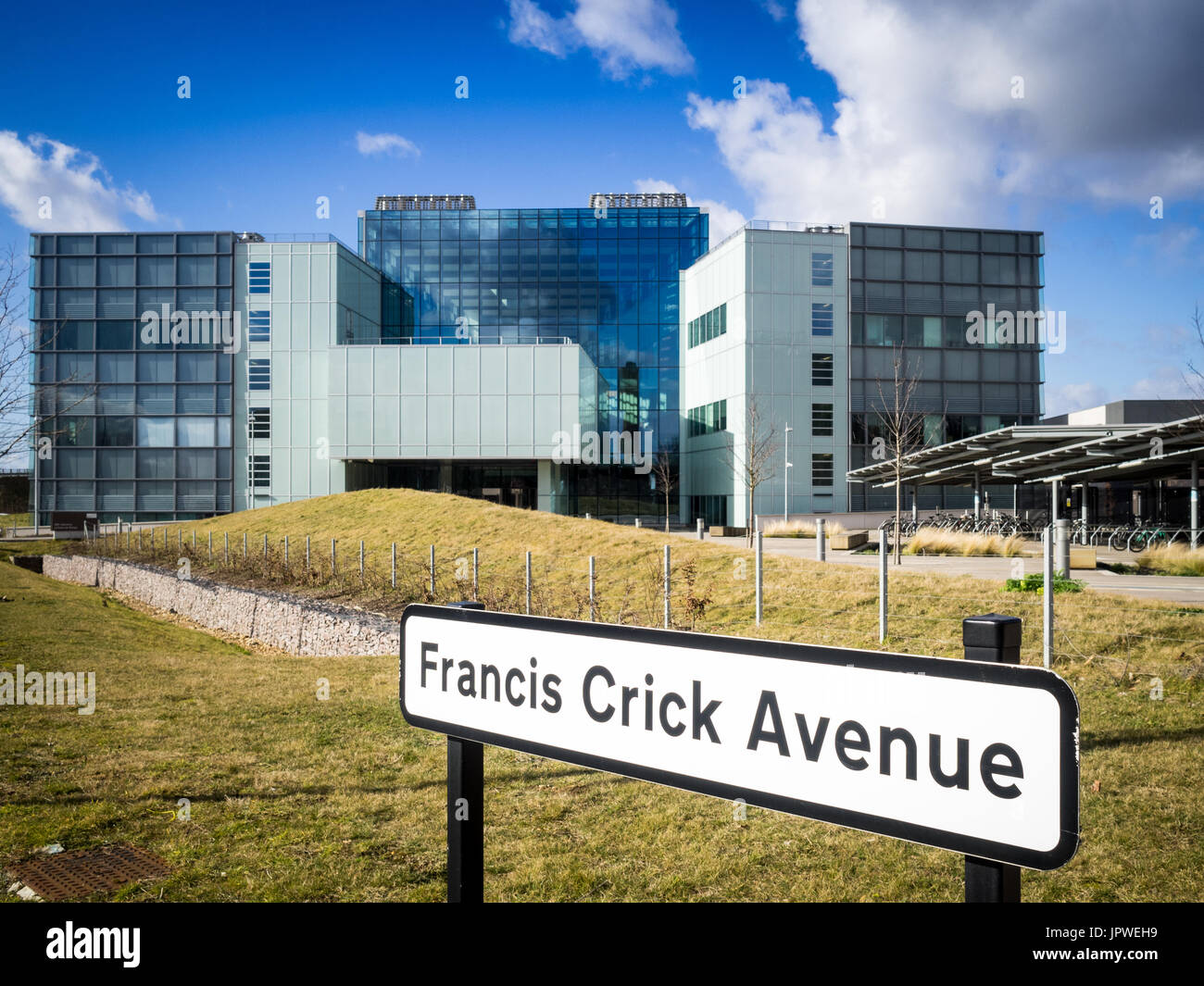 Biomedical Campus - the MRC Laboratory of Molecular Biology, in Francis Crick Avenue, Cambridge UK. - Stock Image
