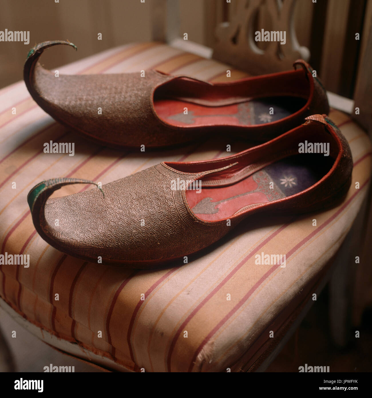 Arabic Shoes On Chair