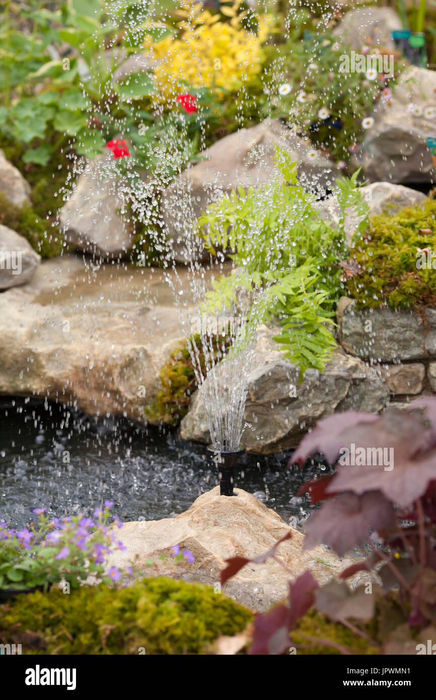 Bubble Fountain Garden Stone Stock Photos & Bubble Fountain Garden