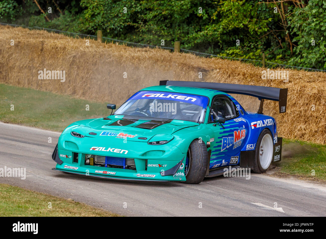 2018 Mazda Rx7 >> 1999 Mazda RX-7 drift car with driver James Deane at the 2017 Stock Photo: 151771334 - Alamy