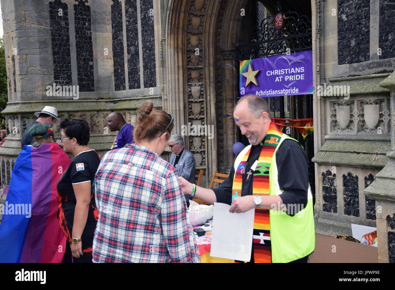 Christians at Pride 2017, Norwich UK, 29 July 2017 - Stock Image