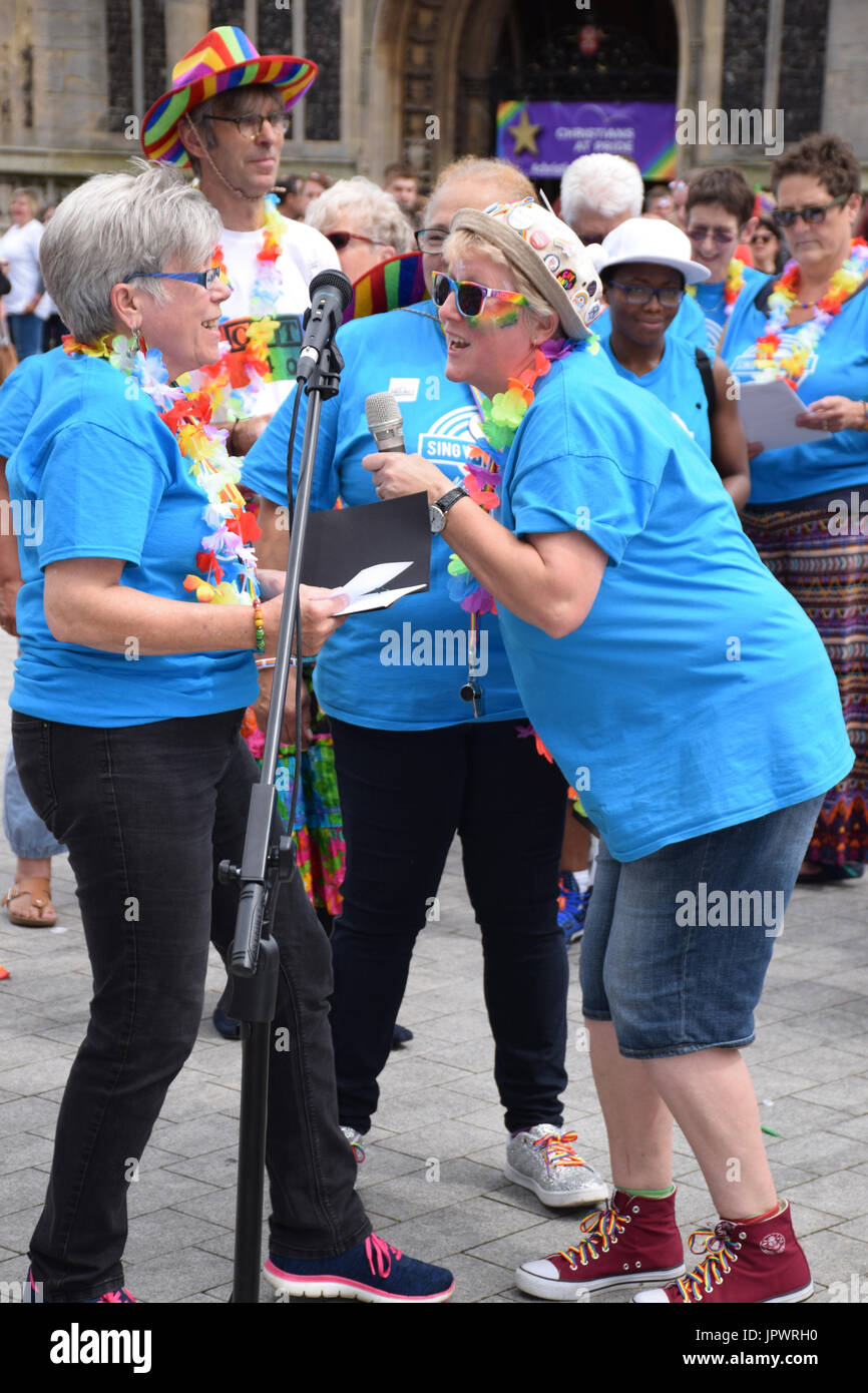 Sing With Pride, Pride 2017, Norwich UK, 29 July 2017 - Stock Image