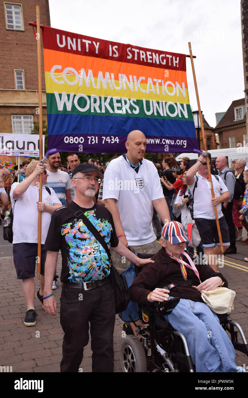 Pride 2017, Norwich UK, 29 July 2017 - Stock Image