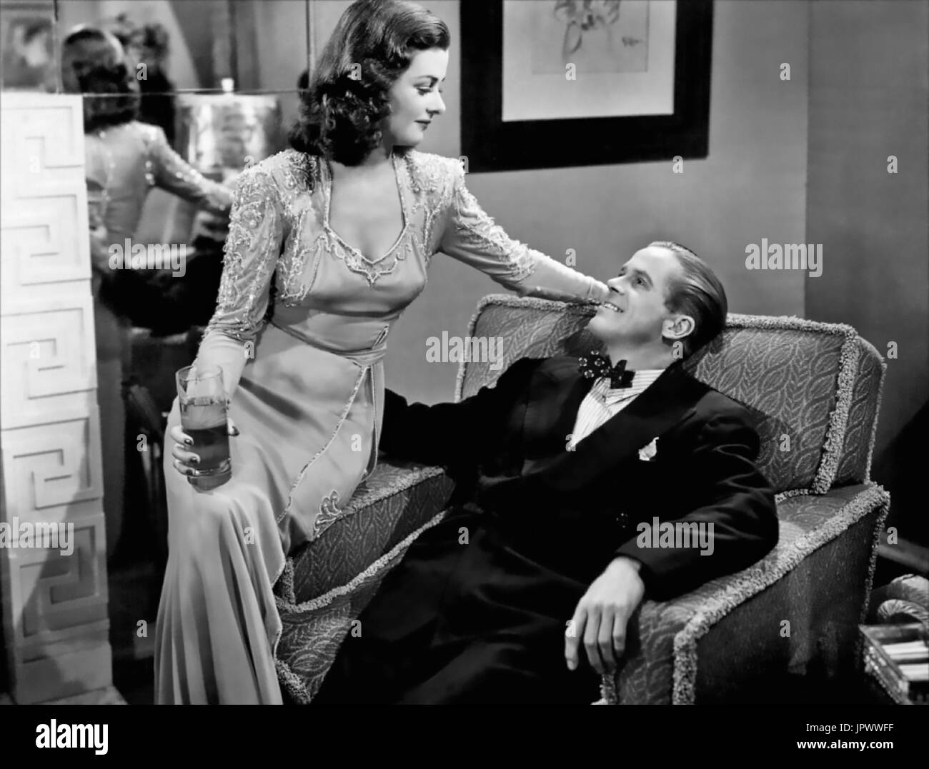 THE WOMAN IN THE WINDOW 1944 RKO Radio Pictures film with Joan Bennett and Dan Duryea Stock Photo
