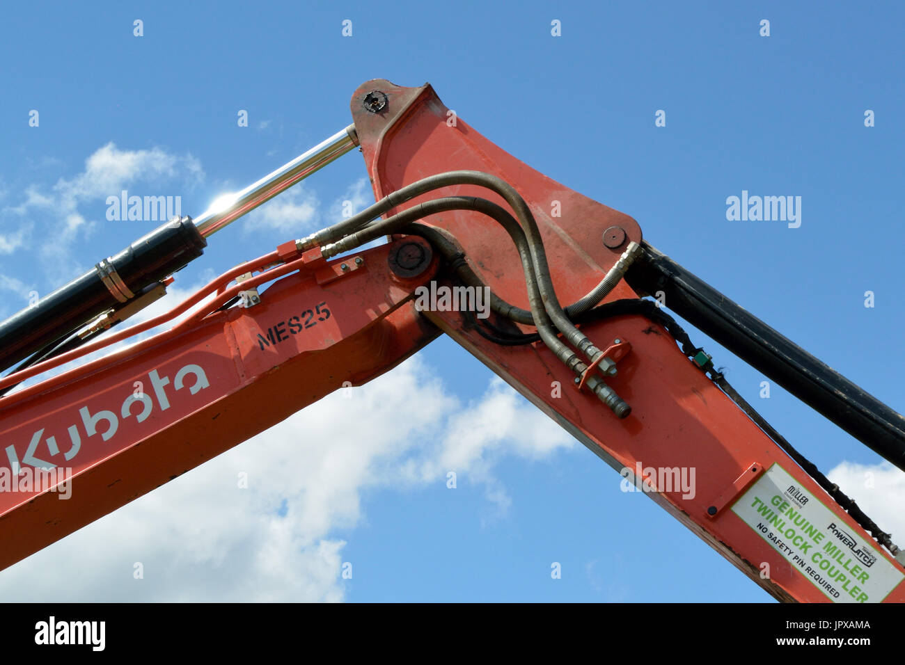 Excavator Hydraulic Arm Project : Hydraulic arm stock photos images